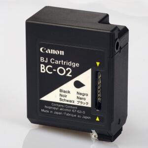 Auf dem Bild sehen Sie den Artikel BC-02 von Canon. Dieses Tintenpatrone Modell eignet sich für die Wiederaufbereitung und wird daher zum Recycling angekauft.