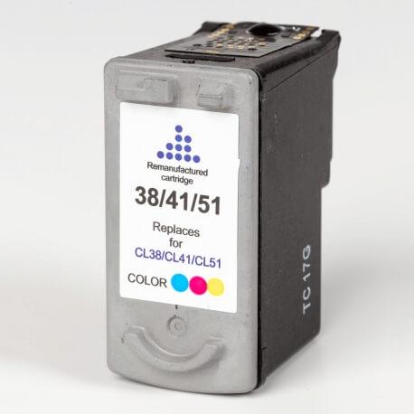 Auf dem Bild sehen Sie den Artikel CL-38 von Canon. Dieses Tintenpatrone Modell eignet sich für das Recycling und wird daher angekauft.