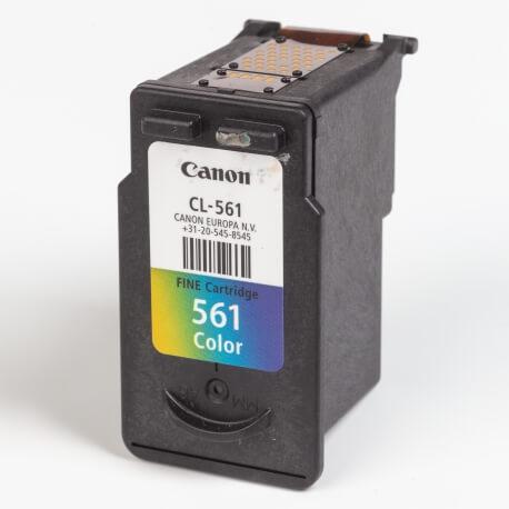 Auf dem Bild sehen Sie den ArtikelCL-561 von Canon. Dieses Tintenpatrone Modell eignet sich für die Wiederaufbereitung und wird daher zum Recycling angekauft.