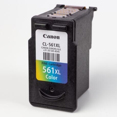 Auf dem Bild sehen Sie den ArtikelCL-561XL von Canon. Dieses Tintenpatrone Modell eignet sich für die Wiederaufbereitung und wird daher zum Recycling angekauft.