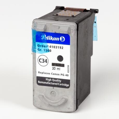 Auf dem Bild sehen Sie den ArtikelPG-40 von Canon. Dieses Tintenpatrone Modell eignet sich für das Recycling und wird daher angekauft.