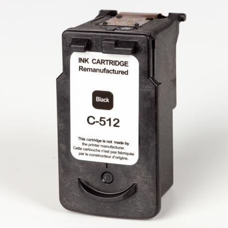Auf dem Bild sehen Sie den ArtikelPG-512 von Canon. Dieses Tintenpatrone Modell eignet sich für das Recycling und wird daher angekauft.