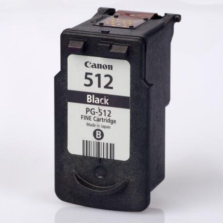 Auf dem Bild sehen Sie den Artikel PG-512 von Canon. Dieses Tintenpatrone Modell eignet sich für die Wiederaufbereitung und wird daher zum Recycling angekauft.