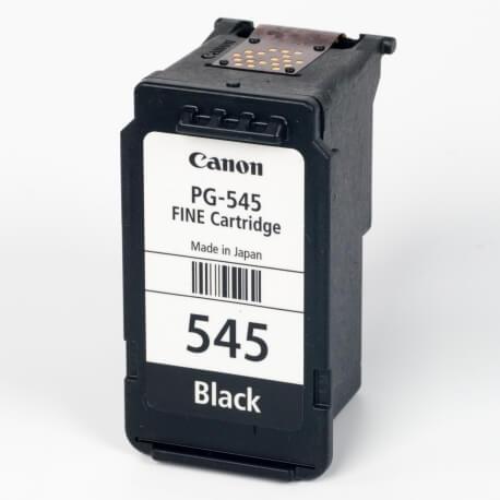 Auf dem Bild sehen Sie den ArtikelPG-545 von Canon. Dieses Tintenpatrone Modell eignet sich für die Wiederaufbereitung und wird daher zum Recycling angekauft.