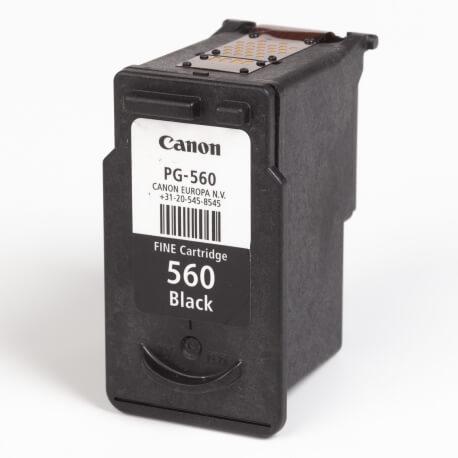Auf dem Bild sehen Sie den ArtikelPG-560 von Canon. Dieses Tintenpatrone Modell eignet sich für die Wiederaufbereitung und wird daher zum Recycling angekauft.
