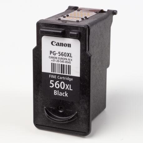 Auf dem Bild sehen Sie den ArtikelPG-560XL von Canon. Dieses Tintenpatrone Modell eignet sich für die Wiederaufbereitung und wird daher zum Recycling angekauft.