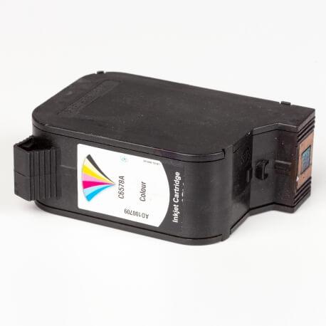 Auf dem Bild sehen Sie den ArtikelC6578A von Hewlett-Packard. Dieses Tintenpatrone Modell eignet sich für das Recycling und wird daher angekauft.