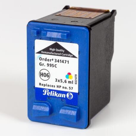 Auf dem Bild sehen Sie den ArtikelC6657A von Hewlett-Packard. Dieses Tintenpatrone Modell eignet sich für das Recycling und wird daher angekauft.