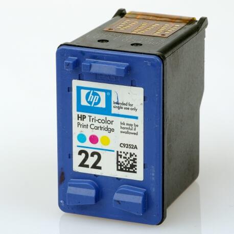 Auf dem Bild sehen Sie den Artikel C9352A XS von Hewlett-Packard. Dieses Tintenpatrone Modell eignet sich für die Wiederaufbereitung und wird daher zum Recycling angekauft.