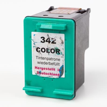 Auf dem Bild sehen Sie den ArtikelC9361EE von Hewlett-Packard. Dieses Tintenpatrone Modell eignet sich für das Recycling und wird daher angekauft.