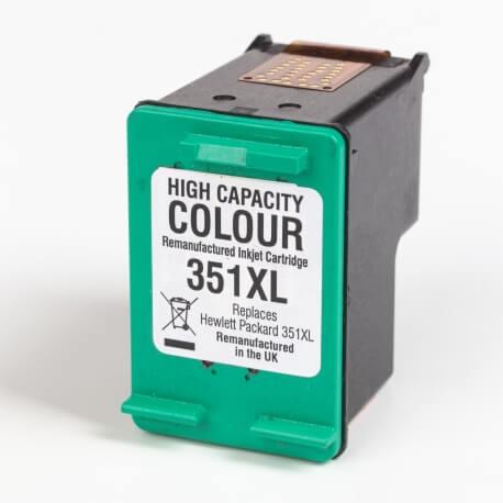 Auf dem Bild sehen Sie den ArtikelCB338EE von Hewlett-Packard. Dieses Tintenpatrone Modell eignet sich für das Recycling und wird daher angekauft.