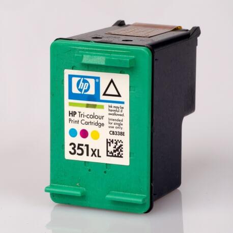 Auf dem Bild sehen Sie den ArtikelCB338EE von Hewlett-Packard. Dieses Tintenpatrone Modell eignet sich für die Wiederaufbereitung und wird daher zum Recycling angekauft.
