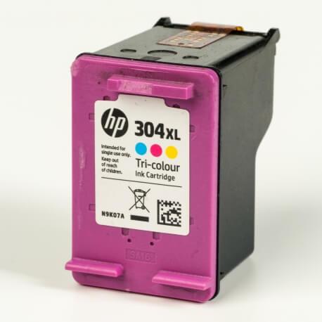 Auf dem Bild sehen Sie den ArtikelN9K07AE von Hewlett-Packard. Dieses Tintenpatrone Modell eignet sich für die Wiederaufbereitung und wird daher zum Recycling angekauft.