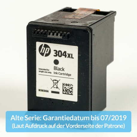 Auf dem Bild sehen Sie den ArtikelN9K08AE Alte Serie von Hewlett-Packard. Dieses Tintenpatrone Modell eignet sich für die Wiederaufbereitung und wird daher zum Recycling angekauft.