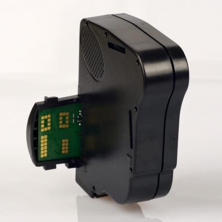 Auf dem Bild sehen Sie den Artikel4128016R von Neopost. Dieses Tintenpatrone Modell eignet sich für die Wiederaufbereitung und wird daher zum Recycling angekauft.