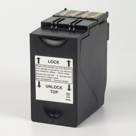 Auf dem Bild sehen Sie den Artikel4135559Y von Neopost. Dieses Tintenpatrone Modell eignet sich für die Wiederaufbereitung und wird daher zum Recycling angekauft.