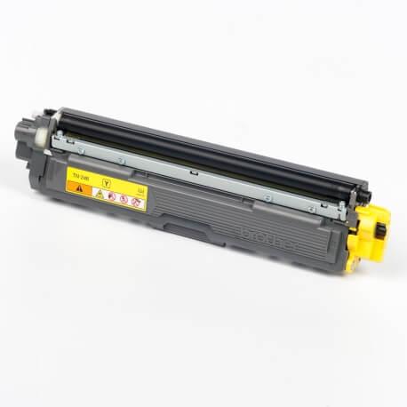 Auf dem Bild sehen Sie den ArtikelTN-246 von Brother. Dieses Toner Modell eignet sich für die Wiederaufbereitung und wird daher zum Recycling angekauft.