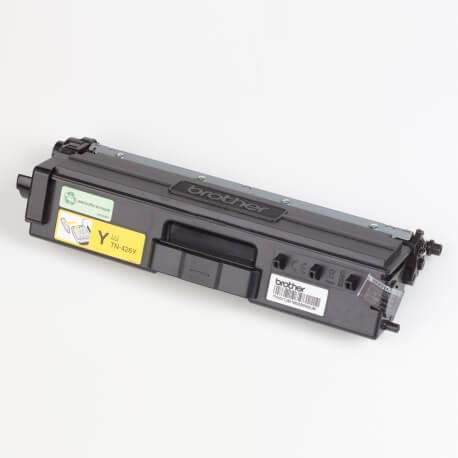 Auf dem Bild sehen Sie den ArtikelTN-426 von Brother. Dieses Toner Modell eignet sich für die Wiederaufbereitung und wird daher zum Recycling angekauft.