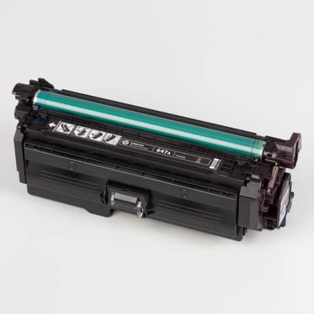 Auf dem Bild sehen Sie den Artikel CE260A-63A von Hewlett-Packard. Dieses Toner Modell eignet sich für die Wiederaufbereitung und wird daher zum Recycling angekauft.
