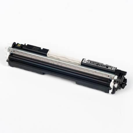 Auf dem Bild sehen Sie den Artikel CE310A-13A von Hewlett-Packard. Dieses Toner Modell eignet sich für die Wiederaufbereitung und wird daher zum Recycling angekauft.
