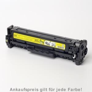 Auf dem Bild sehen Sie den Artikel CE410A-13A von Hewlett-Packard. Dieses Toner Modell eignet sich für die Wiederaufbereitung und wird daher zum Recycling angekauft.