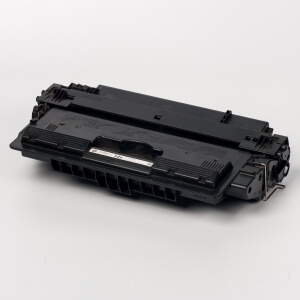 Auf dem Bild sehen Sie den Artikel CF214X von Hewlett-Packard. Dieses Toner Modell eignet sich für die Wiederaufbereitung und wird daher zum Recycling angekauft.