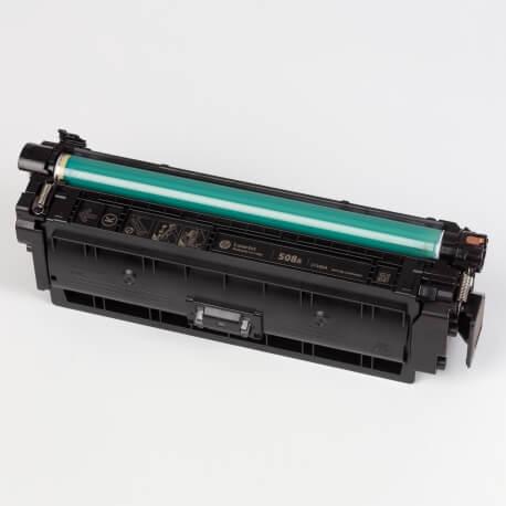 Auf dem Bild sehen Sie den ArtikelCF360A-63A von Hewlett-Packard. Dieses Toner Modell eignet sich für die Wiederaufbereitung und wird daher zum Recycling angekauft.