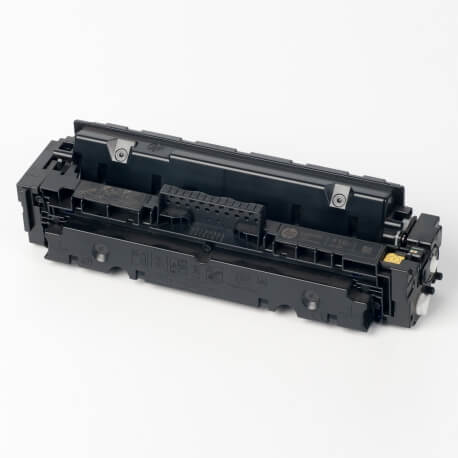 Auf dem Bild sehen Sie den ArtikelCF410X-13X von Hewlett-Packard. Dieses Toner Modell eignet sich für die Wiederaufbereitung und wird daher zum Recycling angekauft.