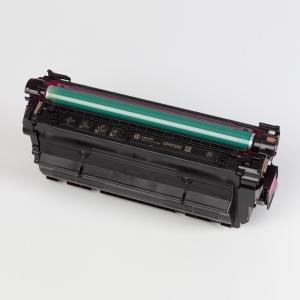 Auf dem Bild sehen Sie den ArtikelCF470X-73X von Hewlett-Packard. Dieses Toner Modell eignet sich für die Wiederaufbereitung und wird daher zum Recycling angekauft.