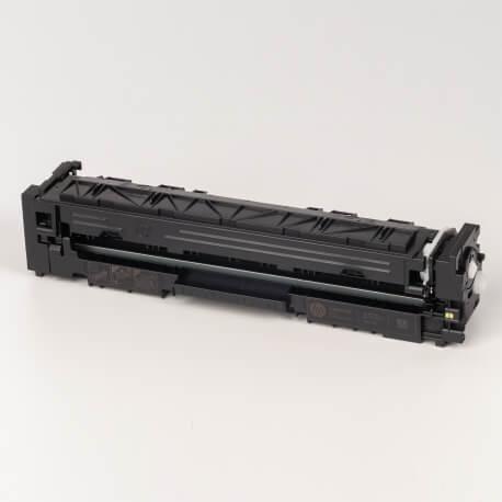 Auf dem Bild sehen Sie den ArtikelCF540A-43A von Hewlett-Packard. Dieses Toner Modell eignet sich für die Wiederaufbereitung und wird daher zum Recycling angekauft.