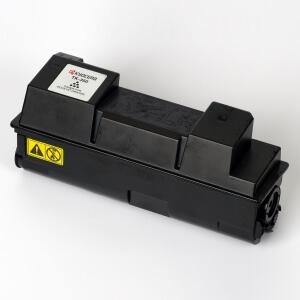 Auf dem Bild sehen Sie den Artikel TK-350 von Kyocera/Mita. Dieses Toner Modell eignet sich für die Wiederaufbereitung und wird daher zum Recycling angekauft.