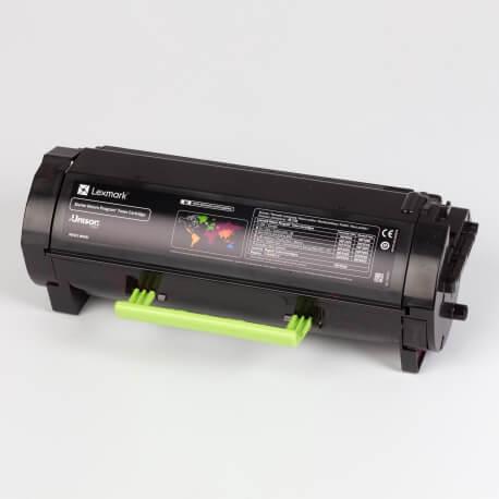 Auf dem Bild sehen Sie den Artikel56F2x00/0E von Lexmark. Dieses Toner Modell eignet sich für die Wiederaufbereitung und wird daher zum Recycling angekauft.