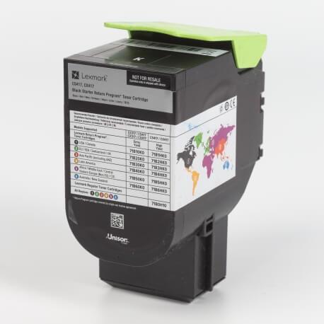 Auf dem Bild sehen Sie den Artikel71B20x0 von Lexmark. Dieses Toner Modell eignet sich für die Wiederaufbereitung und wird daher zum Recycling angekauft.