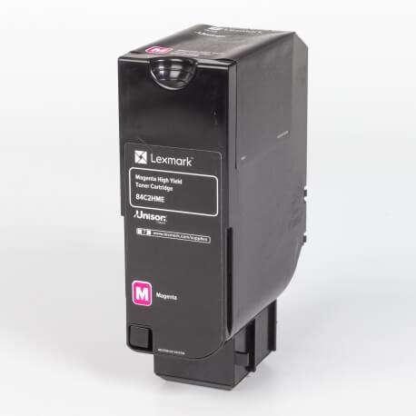 Auf dem Bild sehen Sie den Artikel84C0H10-0H40 von Lexmark. Dieses Toner Modell eignet sich für die Wiederaufbereitung und wird daher zum Recycling angekauft.