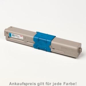 Auf dem Bild sehen Sie den Artikel 44469722-724 von OKI. Dieses Toner Modell eignet sich für die Wiederaufbereitung und wird daher zum Recycling angekauft.