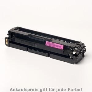 Auf dem Bild sehen Sie den Artikel CLT-x506L von Samsung. Dieses Toner Modell eignet sich für die Wiederaufbereitung und wird daher zum Recycling angekauft.