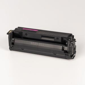 Auf dem Bild sehen Sie den Artikel CLT-x603L von Samsung. Dieses Toner Modell eignet sich für die Wiederaufbereitung und wird daher zum Recycling angekauft.