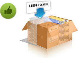 Enclose our fully completed shipping ticket with each parcel or pallet. Without this shipping ticket it is difficult or even impossible for us to assign the shipment to the correct sender.
