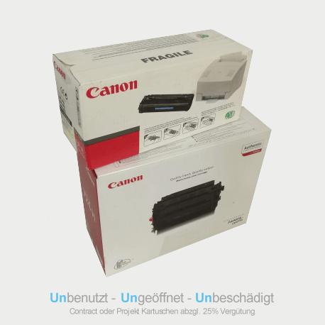 Auf dem Bild sehen Sie den ArtikelCartridge 723H von Canon. Dieses Toner Modell eignet sich für die Wiederverwendung und wird daher angekauft.