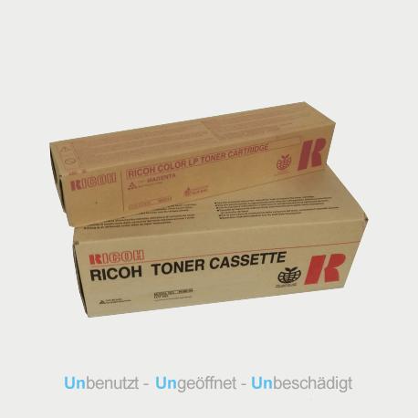 Auf dem Bild sehen Sie den Artikel406479-82 von Ricoh. Dieses Toner Modell eignet sich für die Wiederverwendung und wird daher angekauft.