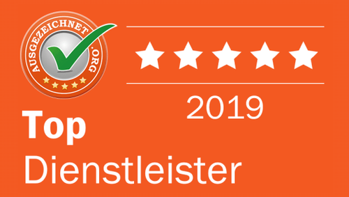 Geldfuermuell erhält Auszeichnung als Top Dienstleister 2019 von ausgezeichnet.org